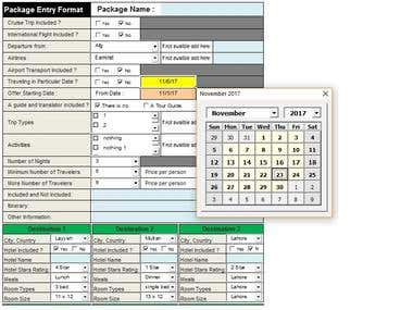 EXCEL AND PDF FORM iPad