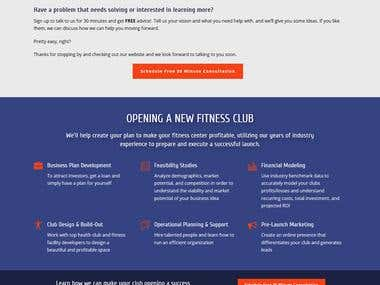 WordPress website for Health Club Consultants
