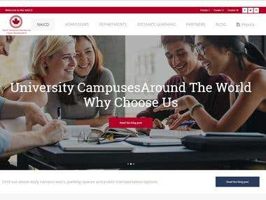 naicd.ca : educational customized wordpress website