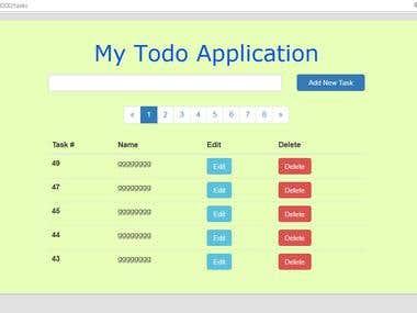 Simple Todo Web Application