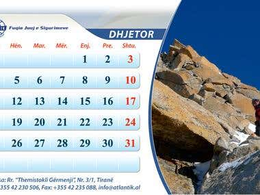 Table Calendar for ATLANTIC