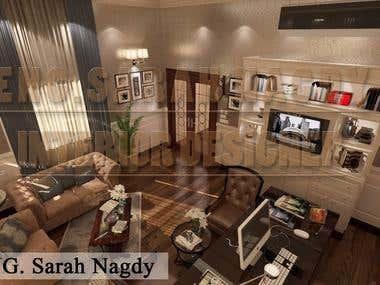 Inteior design of contemporary office