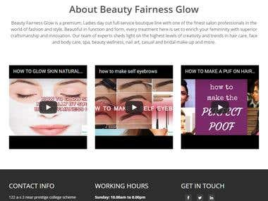 Beauty Fairness Glow Theme