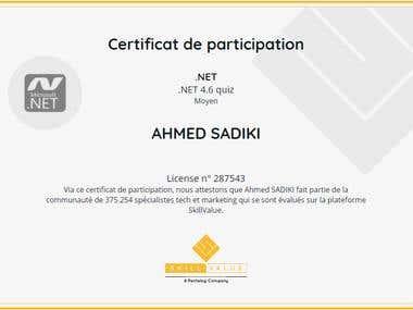 .Net 4.6 certification