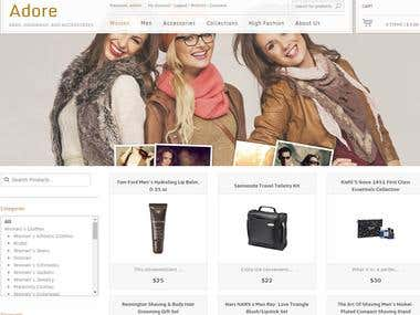 Customized Site via Shopstyle API.