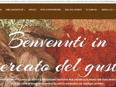 https://www.mercatodelgusto.it/ --- editing work