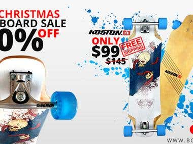 Facebook ad design for pre-Christmas Longboard