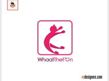 Whaat The fun logo design