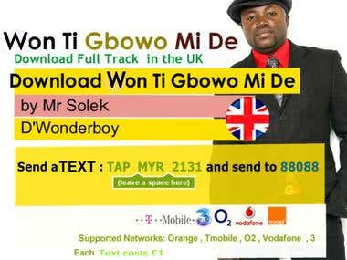 Our Digital Label Posters For SMS download promotion