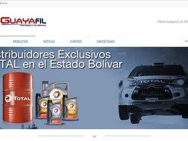 Sitio Web Basado en Wordpress - Filtros Guayana C.A.