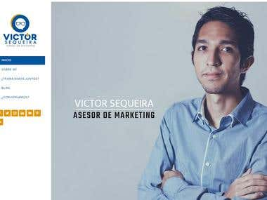 Sitio Web Basado en Wordpress - Victor Sequeira
