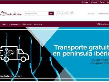Sitio Web Basado en Wordpress - Tu tienda del vino
