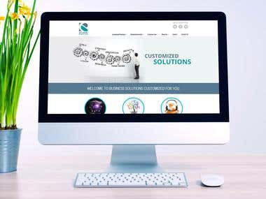 Website for business solutions company