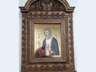 Wood iconostasis