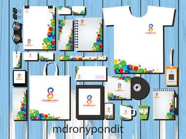corporate-identity-sets-colorful-circles-curves-decoration