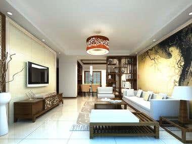 Living Room with Maya