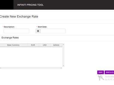 Inifinity Pricing Tool (http://www.infiniti.ca/en)