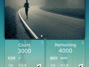 Fitness UI App design