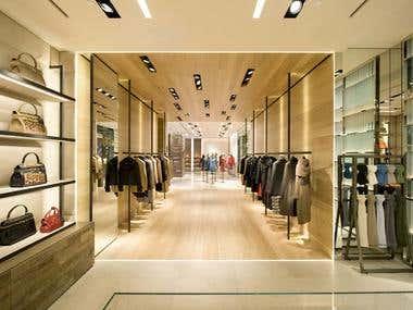 Shop design with 3DMax