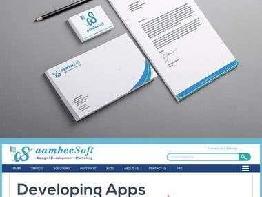 Brand identity | website | Logo | Stationery design