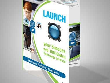 Launch brochure design