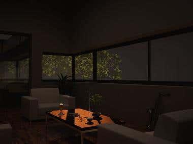 3d Architectural house