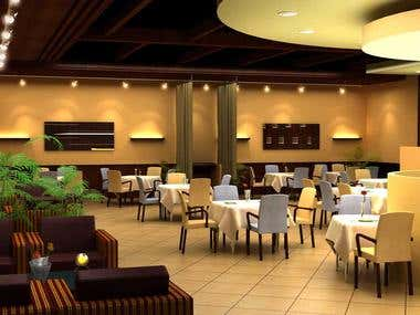 3D Interior for Restaurant ( Mundal)