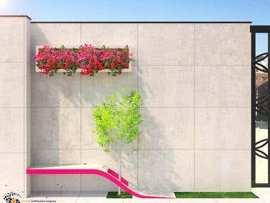 Negar kindergarten interior, landscape and facade design