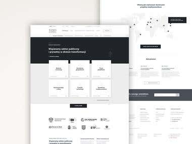 Wireframes for Corpotate landingpage