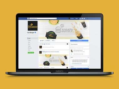 Facebook Cover for Go Burger
