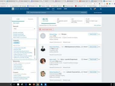 LinkedIn Sales Navigator Account for Persona lead