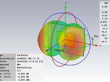 Antenna simulation using CST