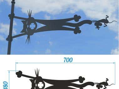 2d and 3d design for laser cutting machine
