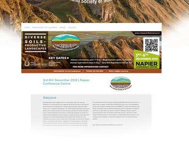 NZ Society of Soil Science Conference | Banner Design Web