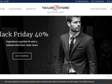 Customize Tailor Shop
