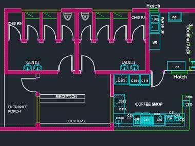 Kitchen equipment layout