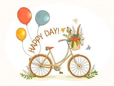 Happy day - design elements