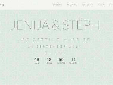 JENIJA & STÉPH Wedding Website