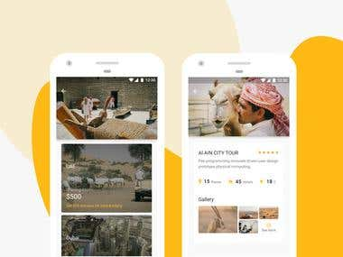 Package and detail page for travel app