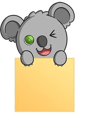Koala Post-it