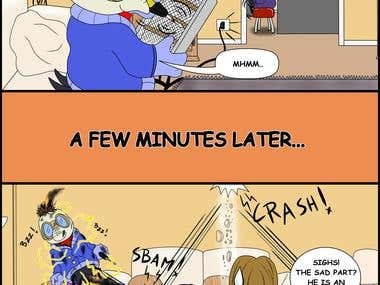 Funny comic page