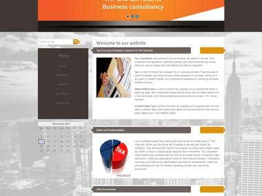 Website design for CA Business.