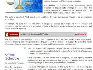 eWeek feature article on security software