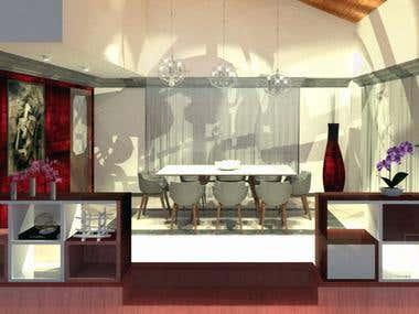 Dining Room Interior design- Diseño de interiores