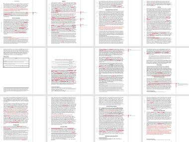 Proofreading and light editing example