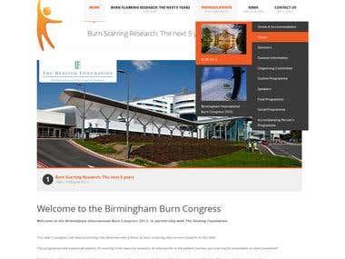 Birmingham Burn Congress Website