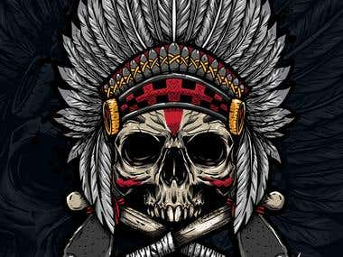 Skull t shirt native