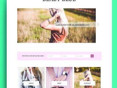 Beady Blue theme Developed