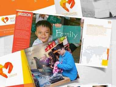 Logo and catalog design for a non-profit