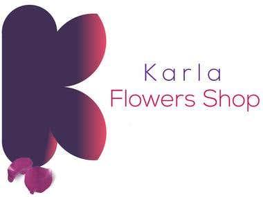 Logo for Karla Flowers Shop